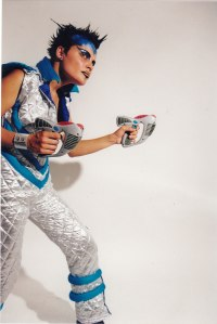 A photo of Sydney psychic Sin Mariani in the 90s as performer.
